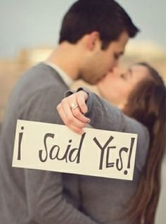 Love this for engagement announcements !!