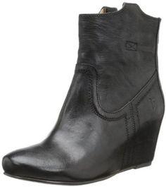 Amazon.com: FRYE Women's Carson Wedge Bootie: Shoes