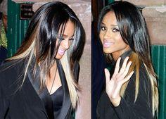 peek a boo highlights | Dark hair with Peek A Boo highlights. [main]