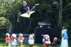 Those are clearly #Dwarves... #Metallica's James Hetfield Rocks Out for Gnomes – Pic of the Week