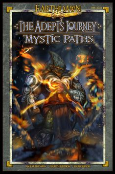 Earthdawn Fourth Edition Adept's Journey - Mystic Paths - The Road Less Traveled. For all the power at their fingertips, the adept's journey is not an easy one. Optical Character Recognition, Text Background, Tabletop Games, New Books, Mystic, Paths, Gaming, Journey, Board Games