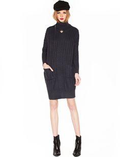 Turtle neck knit dress $89