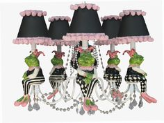 Nursery Boutique -Chandeliers -Harlequin Frog Jester- Unique Chandeliers For any Baby Nursery or Children's Room|Find|Buy|Shop|Compare|LollipopMoon.com only $650.00 - Louise Antoinette Designs