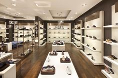 the lighting in the department store generates a friendly bright . pictures of shoe store layout Shoe Store Design, Retail Store Design, Shoe Shop, Shoe Display, Display Design, Display Showcase, Jakarta, Store Layout, Shop Front Design