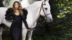 Джиджи Хадид, harper's bazaar, белая лошадь, Gigi Hadid, harper's bazaar, white horse