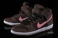 Nike SB Dunk High Baroque Brown/Ion Pink