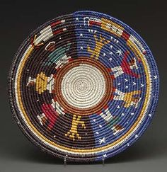 """Coiled Basket """"Setting the Stars"""" by Alicia Nelson (Navajo)"""