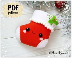 This is a digital tutorial on how to make Christmas Stocking ornament from felt Included step by step instructions, pictures and full size pattern pieces (no need to enlarge or resize). Its completely hand sew and you dont need a sewing machine. THIS IS NOT A FINISHED TOY. THIS IS A PDF