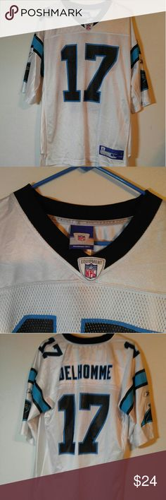 Carolina Panthers Jersey-Official Reebok NFL Gear Carolina Panthers Jersey-Like New only Worn A Couple of times. Size Large Reebok Shirts