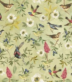 Susan Winget Premium Quilt Print-Botanical Meadow Song Birds & Premium Quilting Fabric at Joann.com