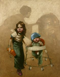 In a Backyard Far Far Away Series: Star Wars - Princess Leia and R2-D2 by Craig Davison *