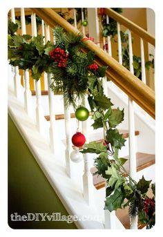 Christmas Banister Garland - the DIY village