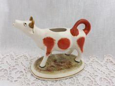 Staffordshire Cow Creamer great little cow in very good condition by CuriosAnCollectibles, £30.00