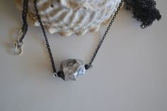 Diffusing Necklace Aromatherapy Jewelry Line 'Rock Your Essence' by Still Lily Designs.  Handmade clay bead in silver/gray.  www.stillLily.etsy.com Aromatherapy Jewelry, Line S, Diffuser Necklace, Clay Beads, Lily, Rock, My Style, Silver, Handmade