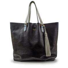 Bag / bolsas Bolsa de ombro Bolsa de couro flora preta carmim - Carmim Store