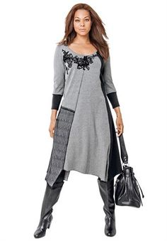 Jessica London Plus Size Clothing | Plus Size Asymmetrical Hem Dress image