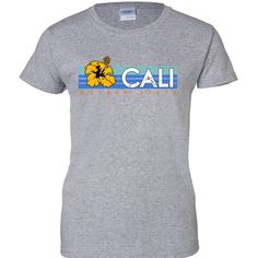 Cali Golden State Hibiscus Ladies T-Shirt