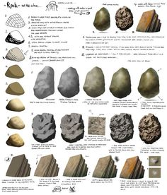 how to draw rocks - Google Search