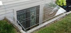 Image result for box hedging around basement well