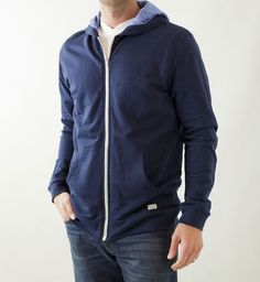 Marine Layer Afternoon Hoodie, custom fabric blend made, dyed and assembled in the US