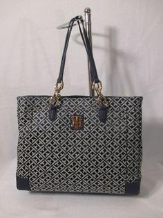 Tommy Hilfiger Handbag NS Tote Color Blue 6932573-471 Retail Price $ 99.00…