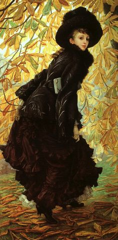 October, 1877 - James Jacques Joseph Tissot, French, 1836 - 1902.