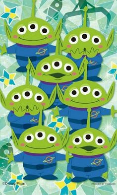 Aliens Disney Pixar, Disney Fan Art, Walt Disney, Disney Cartoons, Disney Magic, Disney Movies, Toy Story Birthday, Toy Story Party, Disney Phone Wallpaper