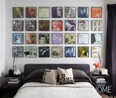 Dan's record collection to basement tv room?  from Photo Gallery: 10 Small Bedrooms | House & Home