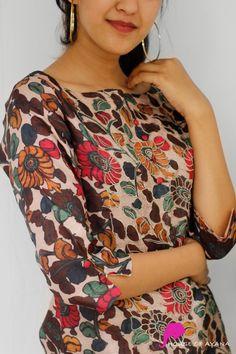 Aquatalia Embroidered Kurti with Cigarette Pants - House of Ayana Kurtha Designs, Choli Designs, Hand Designs, Sleeve Designs, Kurti Sleeves Design, Kurta Neck Design, Churidar Neck Designs, Salwar Designs, Single Piece Dress