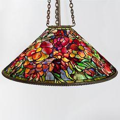 """Tiffany Studios New York """"Bouquet"""" Leaded Chandelier, Macklowe Gallery"""