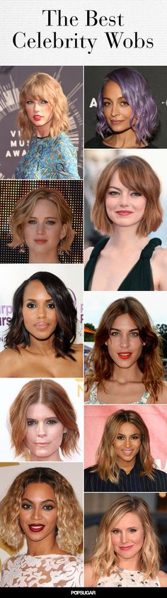 The wob, or wavy lob, is taking Hollywood by storm! We have details on the best ones, plus how to achieve your own. #hair #beauty