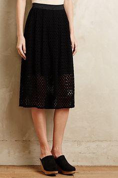 Lasercut Midi Skirt