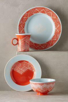 Linhas Dinner Plate - anthropologie.com