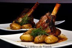 souris d'agneau confite - miel romarin - cuisson basse température