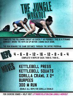 The Jungle Workout #totalbodyworkout #workout #kettlebells