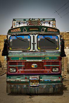 Local Bus in Jaisalmer, India