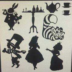 Black Vinyl Alice in Wonderland Wall Decals by CheshireChestDesigns on Etsy https://www.etsy.com/listing/228254006/black-vinyl-alice-in-wonderland-wall