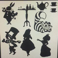 Black Vinyl Alice in Wonderland Wall Decals by CheshireChestDesigns on Etsy https://www.etsy.com/listing/228254006/black-vinyl-alice-in-wonderland-wall