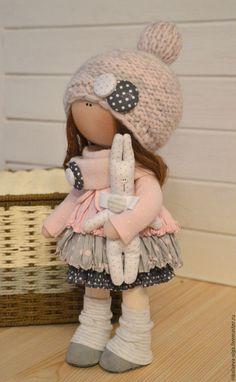 Куклы тыквоголовки ручной работы. Заказать Интерьерная текстильная кукла. Ольга. Ярмарка Мастеров. Кукла текстильная, мимими, жатка