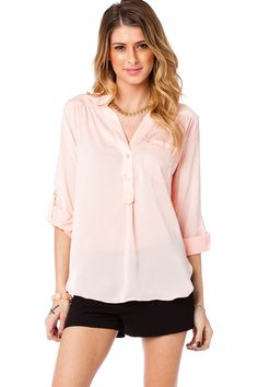 ShopSosie Style : Grenelle Blouse in Blush