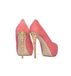 #LeSilla suede #pump with jewelled hand-painted heel  #cherryheel #barcelona #shoponline #shoppingbarcelona #bestshop #bestshoes #luxury #chic #iloveshoes #fashion #style #woman #italianfashion #italianstyle #musthaves #redcarpet #newarrivals #summer2014 #shoes