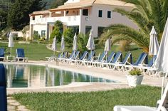 Corfu Hotels, Green Scenery, Corfu Island, Mansions, House Styles, Beach, Holiday, Mansion Houses, Vacations