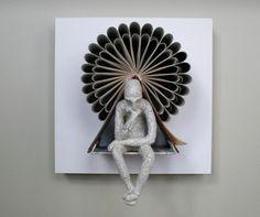 The Thinking Man's Book Sculptures by Daniel Lai aka Kenjio