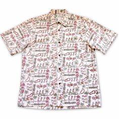 Waikiki White Hawaiian Reverse Shirt   #floralshirt #hawaiianshirts #hawaiianshirt #madeinhawaii #alohashirt