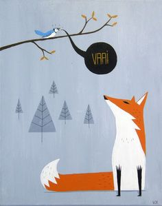 #fox #illustration by Warwick Kay
