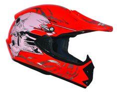 Kinder Cross Helm Kinderhelm Motorradhelm Quadhelm Crosshelm Rot