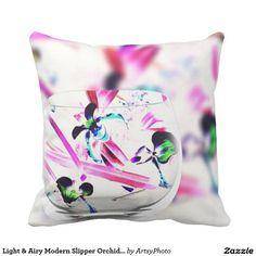 Light & Airy Modern Slipper Orchids Decorative Pie
