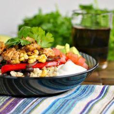 Chipotle Chicken Fajita Rice Bowls @keyingredient