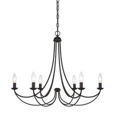 Quoizel 'Mirren' 6-light Chandelier | Overstock.com Shopping - Great Deals on Quoizel Chandeliers & Pendants