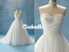 Disney wedding dresses: Cinderella...this is the EXACT dress I want